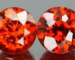 *Bidding Starts $15NR* Bright Red Orange Spessartite Round Pair 1.49ct