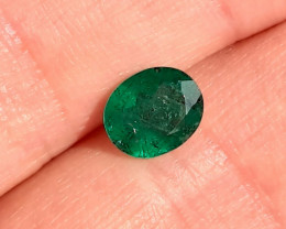Polished Natural Brazilian emerald – 1.87 ct ( Oval Cut)