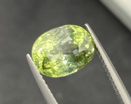 3.85 cts Natural Green Tourmaline Good Quality Gemstone