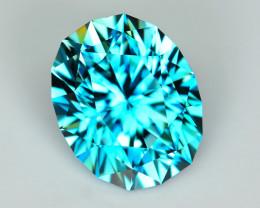 CUSTOM CUT - AAA 2.60ct BLUE ZIRCON  - CAMBODIA