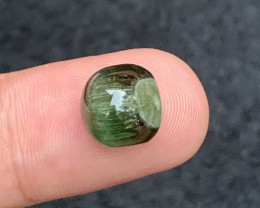 11.25 carats green colour Tourmaline Cats eye  Gemstone  From  Afghanistan