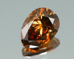*$15NR* NO TREATMENT Orange Cognac Diamond 0.79Ct