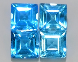7.40 CTS AWESOME NICE QULITY MIXED SWISS BLUE NATURAL TOPAZ~