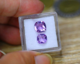 2.96Ct Natural Purple Amethyst Cushion Cut Lot LZ686
