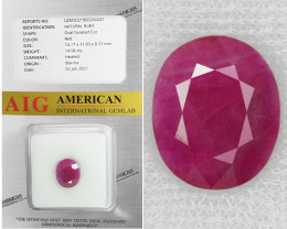 Ruby 14.06 Cts  Red Natural Loose Gemstone