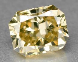 Diamond 0.38 Cts Sparkling Fancy Light Orange Natural VVS