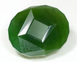 Jade 10.13Ct Master Cut Natural Green Russia Nephrite Jade AT14