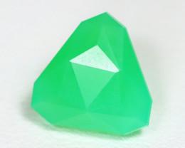 Chrysoprase 2.92Ct Master Cut Natural Green Color Chrysoprase AT17