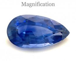 1.91ct Pear Blue Sapphire GIA Certified Sri Lanka