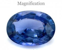 2.34ct Oval Violetish Blue Sapphire GIA Certified Sri Lanka