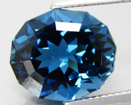 8.74Cts Sparkling Natural London Blue Topaz Oval Custom Cut Loose Gem VIDEO