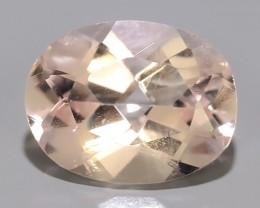 1.55 Cts Stunning  Pale Peach oval Shape Moganite