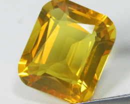 5.84Cts Natural Extremely Mexican Fire Opal Fashion Emerald Cut SEE VIDEO