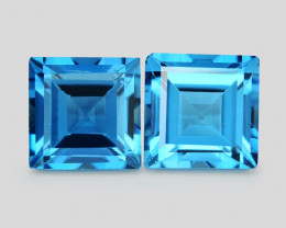 *No Reserve* Topaz 4.86 Cts 2Pcs London Blue Topaz Gemstones