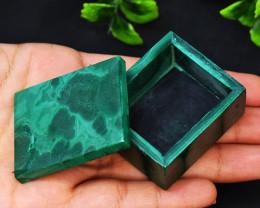 Genuine 355.00 Cts Malachite Healing Box