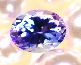 Tanzanite 1.93Ct Natural VVS Purplish Blue Tanzanite D1217/A45