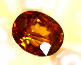 Sphene 2.34Ct Natural Rainbow Flash Chartreuse Green Sphene D1218/A51