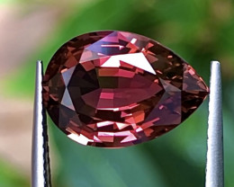 4.03 ct Red Tourmaline With Excellent Luster And Fine Cutting  Gemstone