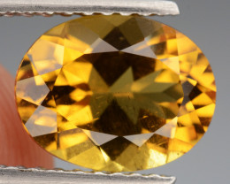Natural  Heliodor  1.78  Cts, Top  Luster.