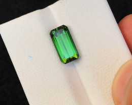 HGTL CERTIFIED 2.80 Ct Natural Green Transparent Tourmaline Ring Size Gemst