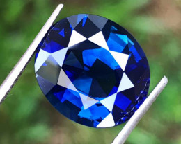 8.15 CT SAPPHIRE GREENISH BLUE ONLY HEATED  100% NATURAL