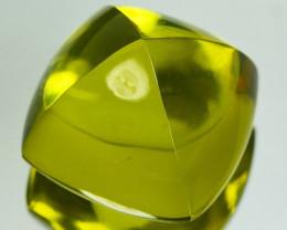 Huge 28.27 Cts Natural Prasiolite Sugar loaf 17mm
