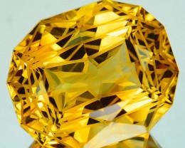 13.16 Cts Natural Golden Orange Citrine Fancy Cushion Custom Cut Brazil