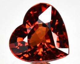 2.40 Cts Natural Mandarin Orange Spessartite Garnet 8mm  Heart Cut Namibia