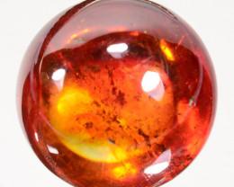 18.60 Cts Natural Rarest Sphalerite Sunset Orange 14mm Cabochon Spain