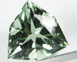 7.98Cts Stunning Natural Green Amethyst (prasiolite) Trillion Custom Cut Re