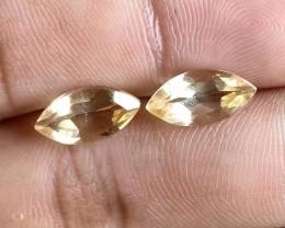 6x12mm Citrine Pair Natural Marquise Faceted Gemstone VA1206