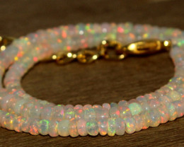 36.45 Crts Natural Welo Opal Beads Necklace 811
