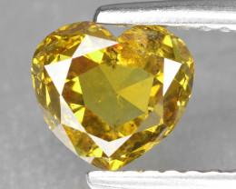 Diamond 1.04 Cts Sparkling Rare Fancy Vivid Yellow Color Natural