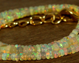 35.90 Crts Natural Welo Opal Beads Necklace 825