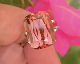 Brilliant Separation of Colors 11.00Ct Bi-Color Pink Tourmaline