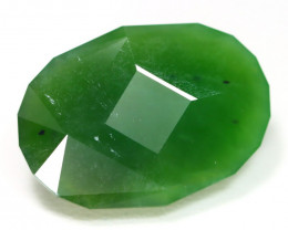 Nephrite 28.68Ct Master Cut Natural Onot River Green Nephrite Jade B0808