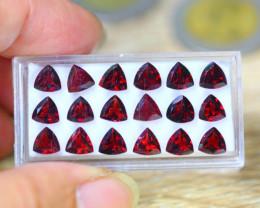 15.90ct Natural Almandite Garnet Trillion Cut Lot GW9194