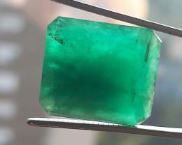 Polished Natural Brazilian emerald – 18.57 ct ( Emerald Cut)