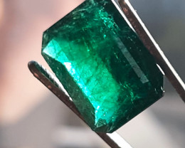 Polished Natural Brazilian emerald – 7.14 ct ( Emerald Cut)