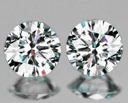 2.10 mm Round 2 pcs 0.08ct Natural White Diamond GHI VVS-VS