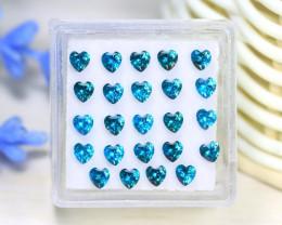 Zircon 3.93Ct Heart Cut Natural Cambodian Blue Zircon Lot C0923