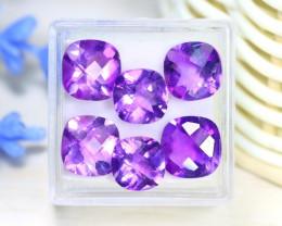 Amethyst 12.81Ct Pixalated Cut Natural Bolivian Purple Amethyst Lot C0924