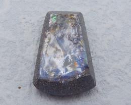 D2298 - 43.5cts Natural Boulder Opal Gemstone faceted Cabochon,Rare Fire Op