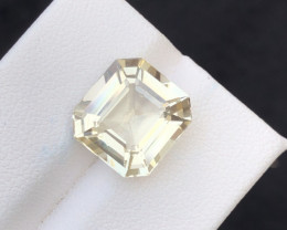 6.30 Carat Natural Ashar Cut  Yellow Aquamarine Gemstone