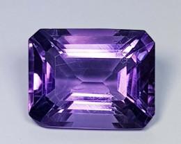 5.02 ct  Top Quality Gem  Octagon Cut Natural Purple Amethyst