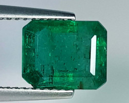 2.56 ct  Fantastic Gem  Lovely Octagon Cut Natural Emerald