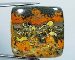 36.44 ct Natural Bumblebee Jasper Rectangular Cabochon  Gemstone