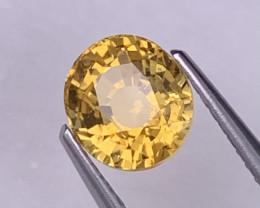 1.93 Cts Srilanka Top Grade Vivid Yellow Unheated/Untreated Sapphire