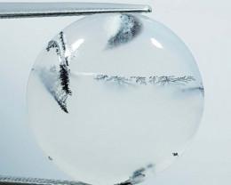 16.37 ct Natural Dendrite Opal Round Cabochon  Gemstone