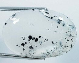 32.35 ct Natural Dendrite Opal Oval Cabochon  Gemstone